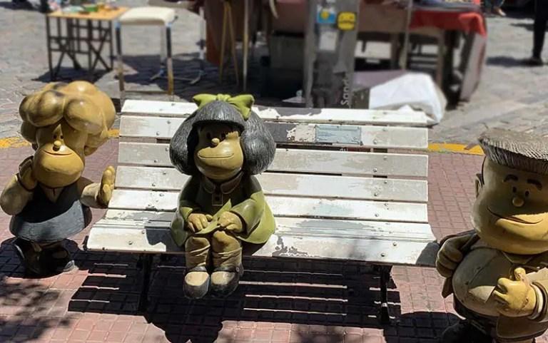 Estátua da Mafalda em Buenos Aires (Foto: Esse Mundo É Nosso)