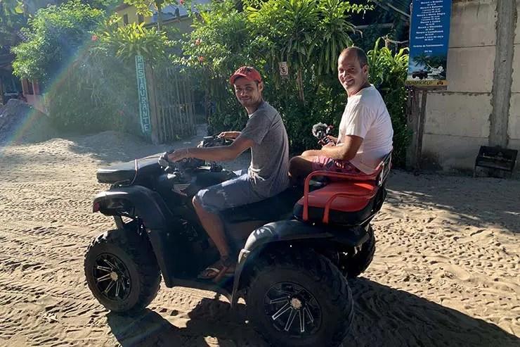 Quadriciclo em Boipeba, Bahia (Foto: Esse Mundo É Nosso)