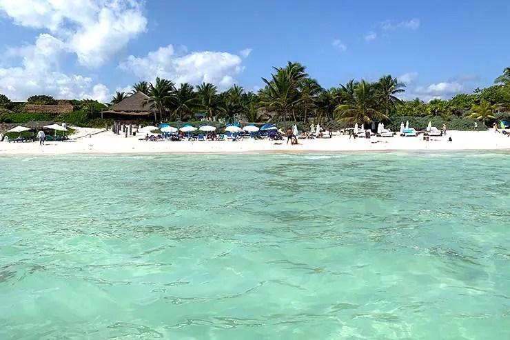Não havia sargaço na Playa Paraiso em Tulum (Foto: Esse Mundo É Nosso)