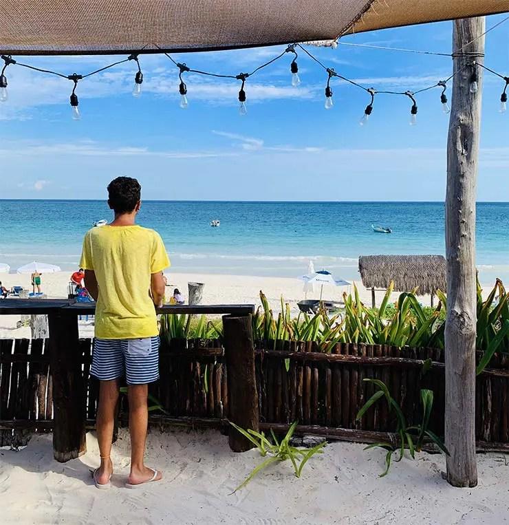 Bar Playa Las Palmas em Tulum (Foto: Esse Mundo É Nosso)