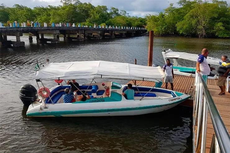 Barco em Graciosa para Boipeba (Foto: Esse Mundo é Nosso)