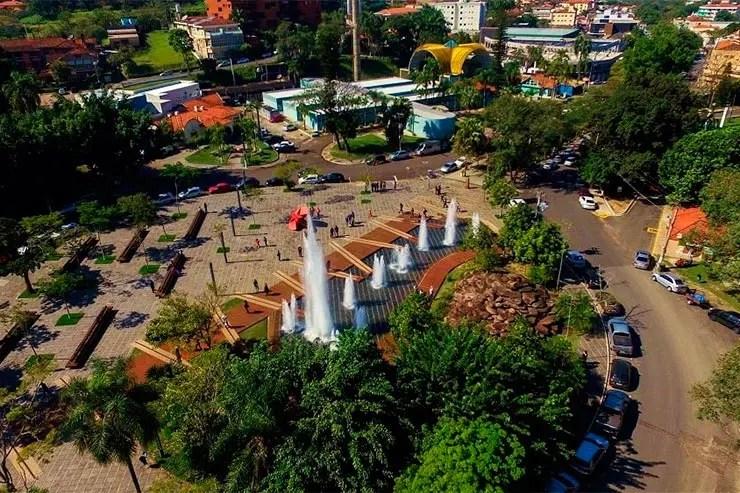 Vista da cidade de Águas de São Pedro (Foto: Reprodução/Facebook da Prefeitura)