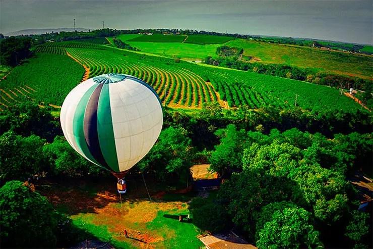 Passeio de balão em Boituva (Foto: Secretaria de Turismo de SP/Ken Chu - Expressão Studio)