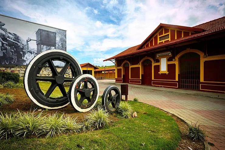 Passeio de locomotiva em Guararema (Foto: Secretaria de Turismo de SP/Ken Chu - Expressão Studio)