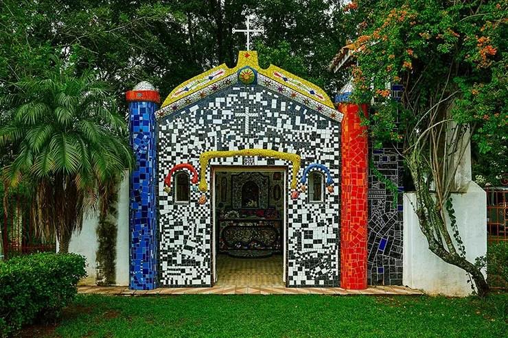 Capelinha de Mosaico em São Bento do Sapucaí (Foto: Secretaria de Turismo de SP/Aniello de Vita - Expressão Studio)
