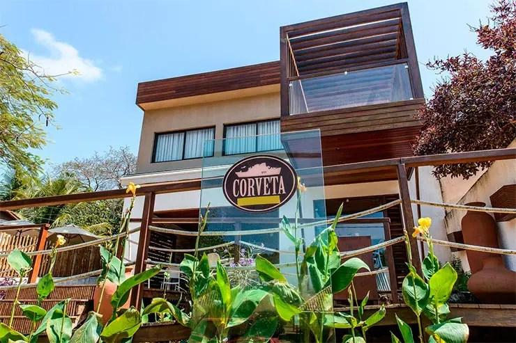 Hotéis e pousadas em Fernando de Noronha: Entrada da Pousada Corveta (Foto: Reprodução/Booking)