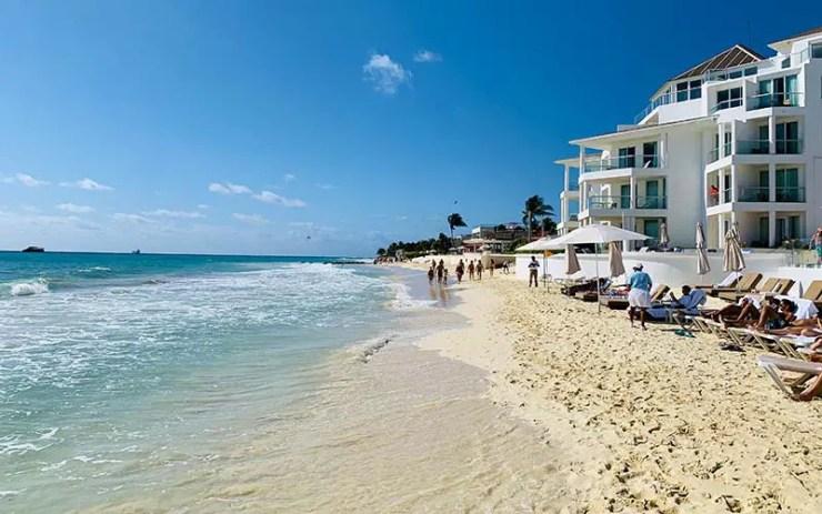 Praia Playacar em Playa del Carmen