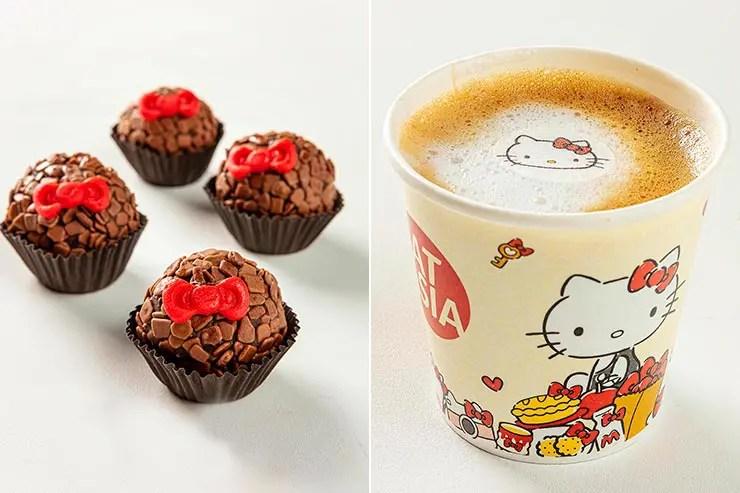 Brigadeiro e café da Hello Kitty (Foto: Divulgação)