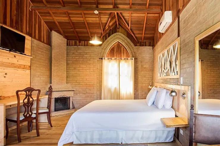 Hotéis e pousadas em Santo Antônio do Pinhal: Quarto da Villa Campestre (Foto: Reprodução/Booking)