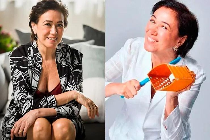 Lilia Cabral na novela A Força do Querer (Foto: Reprodução/Memória Globo e Instagram)