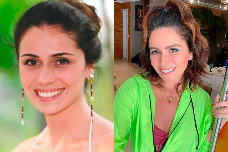 Giovanna Antonelli viveu Capitu em Laços de Família (Foto: Memória Globo e Instagram)