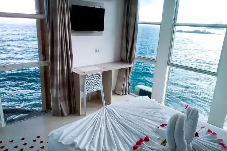 Hotéis e pousadas no Guarujá: Vista de um quarto no Grand Hotel (Foto: Reprodução/Booking)