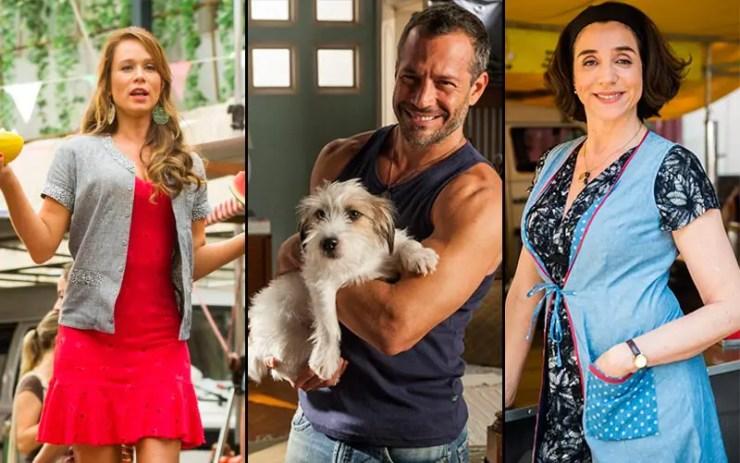 Que ano passou Haja Coração: Mariana Ximenes, Malvino Salvador e Marisa Orth (Foto: Divulgação/Globo)