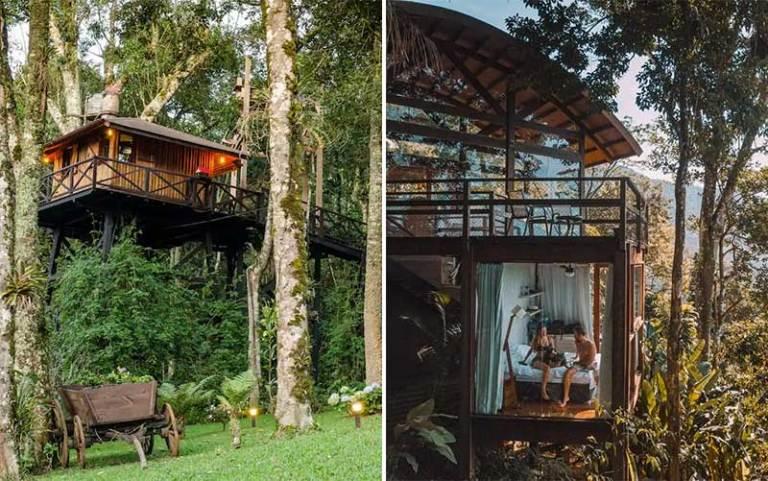 Casas na árvore no Brasil: Monte Verde e Ubatuba