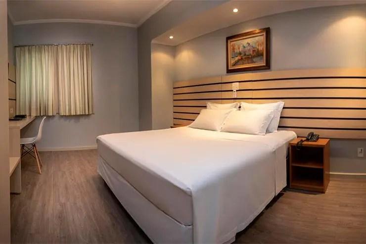Quarto do Hotel KK em Itu (foto: DIvulgação)