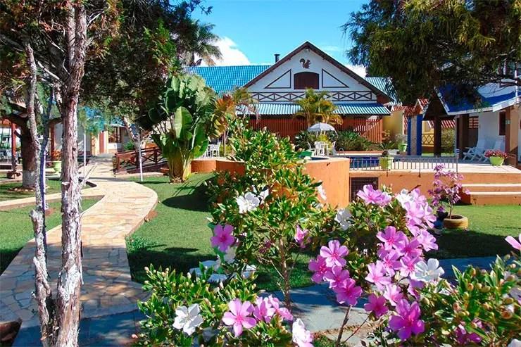 Hotéis e pousadas em São Bento do Sapucaí:  Área externa da Villa da Montanha (Foto: Divulgação)