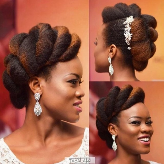 bridal hairstyles for natural hair - essence