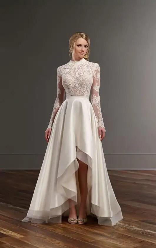 Illusion Lace High Low Skirt Wedding Separates Martina Liana