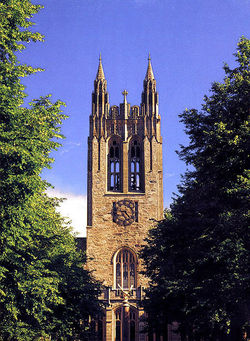 Gasson Hall on the campus of Boston College in Chestnut Hill, Massachusetts