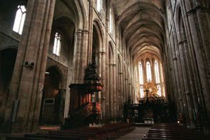 Conservative 13th century Gothic in Provence: Basilica of Mary Magdalene, Saint Maximin la Sainte Baume.