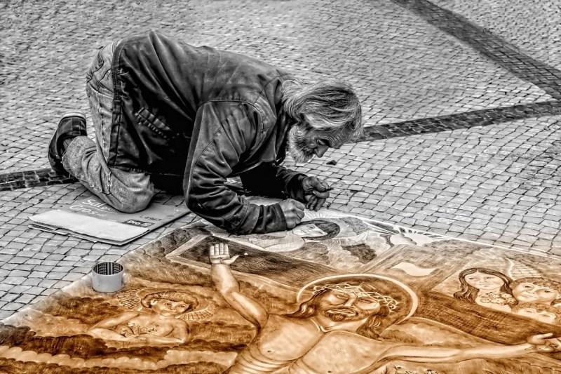 ストリート画家