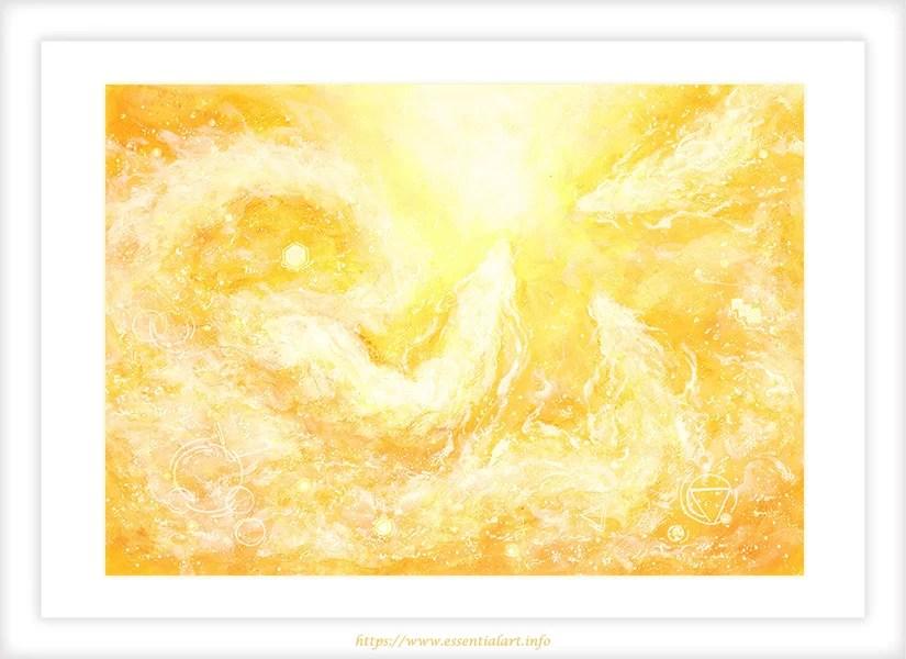 ヒーリングアート 龍神の絵 希望