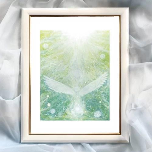 天使の絵 地球の天使