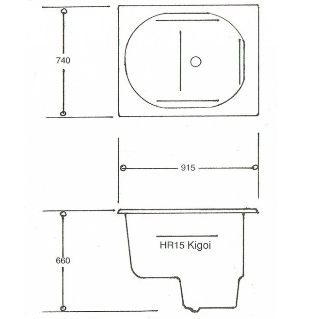 Kigoi HR15 Japanese Spa Bath Technical Data