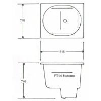 Koromo FT14 Japanese Spa Bath Technical Data