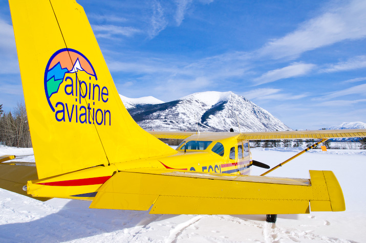 Set for take-off at Carcross airport