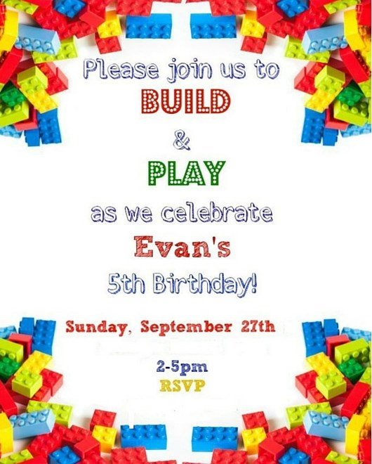 official party invitation