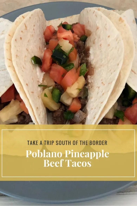Poblano Pineapple Beef Tacos