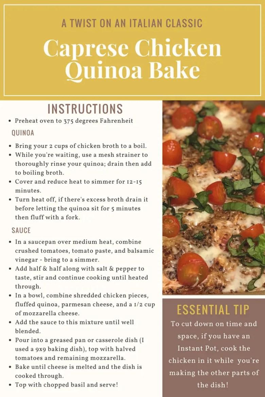 Caprese Chicken Quinoa Recipe