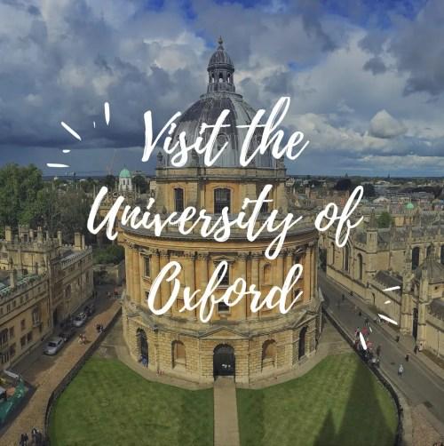 Travel Visit the University of Oxford