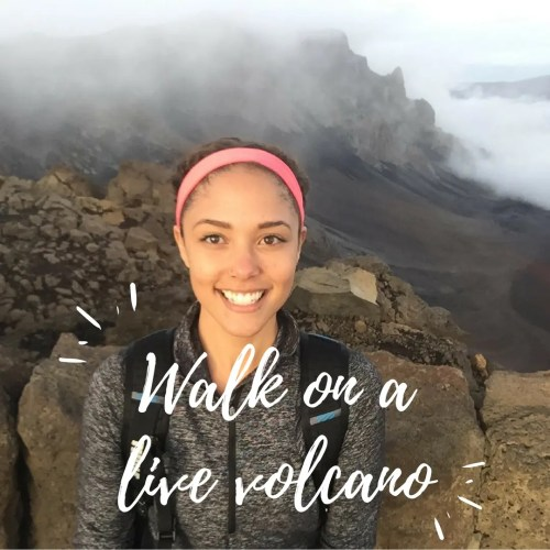 Walk On A Live Volcano