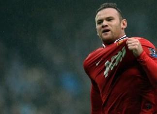 Rooney Celebrating his goal against man City