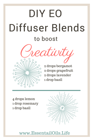 Give your creative juices a boost with this DIY Boost Creativity essential oil diffuser blend