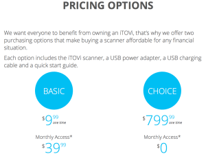 How much does the iTovi cost?