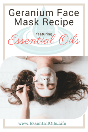Use this DIY Geranium Facial Mask to help refresh your skin
