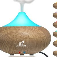ArtNaturals Essential Oil Diffuser - Best Electric Cool Mist Aromatherapy Humidifier Aroma Diffuser - Spa Fragrance For The Whole House- Auto Shut-off & 7 Color LED Lights Changing for Office & Home