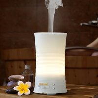 Aromatherapy Essential Oil Diffuser, Oak Leaf 100ml Ultrasonic Mini Cool Mist Aroma Air Humidifier with Soothing Color LED Lights Changing & Waterless Auto Shut-off, and Adjustable Continuous Mist Mode for Home, Yoga, Office, Spa, Bedroom, Baby Room