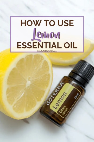 How to use doTERRA Lemon Essential oil