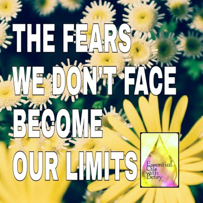 The fears we don't face become our limits.