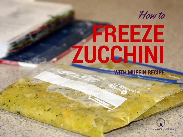 How to freeze all that extra zucchini from your summer garden.