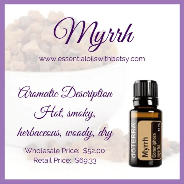 doTERRA Myrrh essential oil benefits the hormonal system, immune system, and nervous system. Myrrh oil is also very helpful for healthy skin. Myrrh contains sequiterpines which have the ability to cross the blood brain barrier! Sesquiterpines are especially helpful to for digestive and circulatory health.