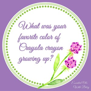 Journal Prompt 14: What was your favorite color of Crayola crayon growing up?