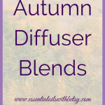 Autumn diffuser blends are a year around favorite for many of us! As we head into September and the back to school season, I wanted to share a few of my own favorites.