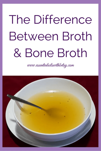 Difference Between Broth & Bone Broth First, let's begin with broth vs bone broth. What is the difference? It super simple actually. Read on, and all will be explained! Be sure to join my Facebook group, https://www.facebook.com/groups/essentialoilclasses/ for natural health tips.