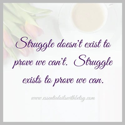 Struggle doesn't exist to prove we can't. Struggle exists to prove we can. Encouragement quotes.