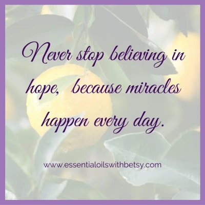 Never stop believing in hope, because miracles happen every day. Inspiring and encouraging quotes on the blog.